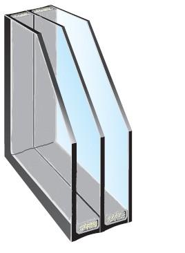 3-fach Isolierglas